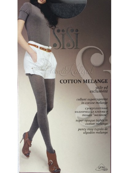 Sisi Cotton Melange женские зимние теплые колготки из хлопка