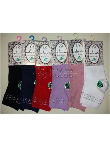 Calze Vita 024 женские бамбуковые носки со стразами