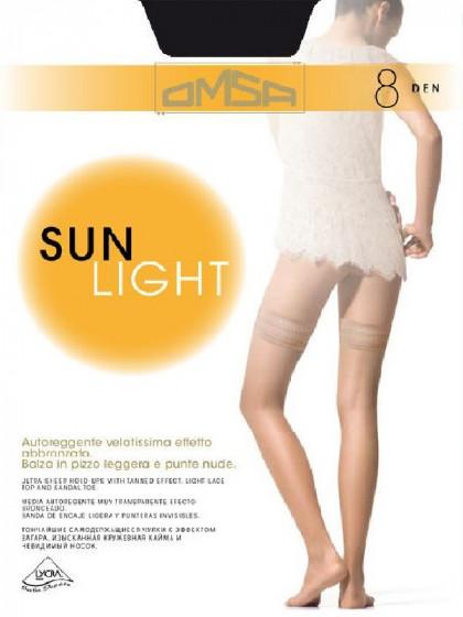 Omsa Sun Light 8 Den Autoreggente тончайшие летние чулки