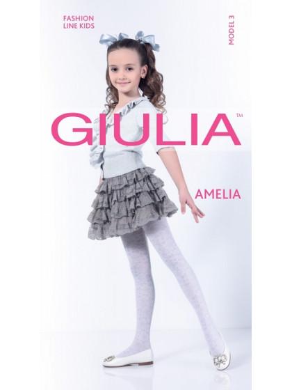 Giulia Amelia 40 Den Model 3 детские колготки с цветочным рисунком