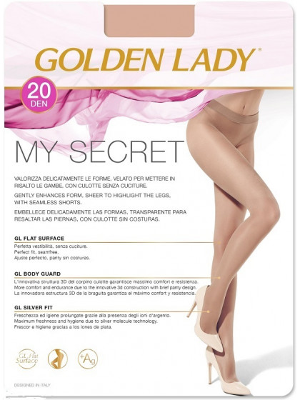 Golden Lady My Secret 20 Den тонкие бесшовные колготки