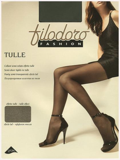 Filodoro Tulle Fashion фантазийные колготки в микросетку-тюль