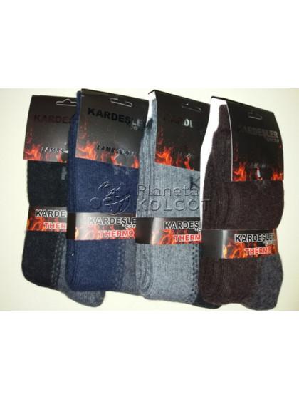 Kardesler 003 мужские теплые шерстяные носки с махрой