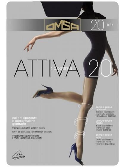 Omsa Attiva 20 Den тонкие женские поддерживающие колготки