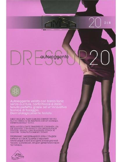 Omsa Dress Up 20 Den тонкие чулки с гладкой кружевной резинкой без швов