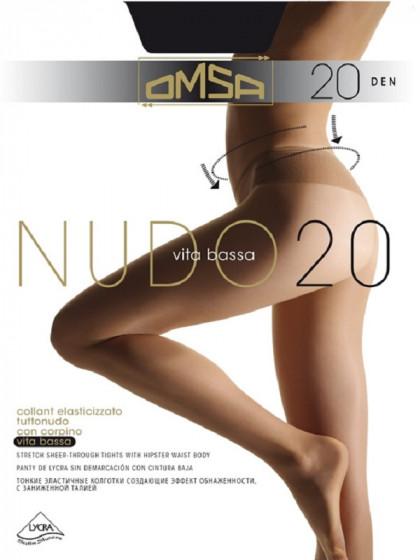 Omsa Nudo 20 Den Vita Bassa колготки на низкой талии