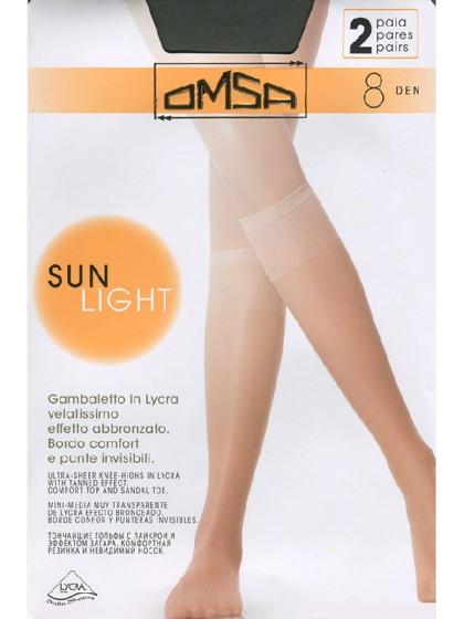 Omsa Sun Light 8 Den Gambaletto тончайшие летние женские гольфы