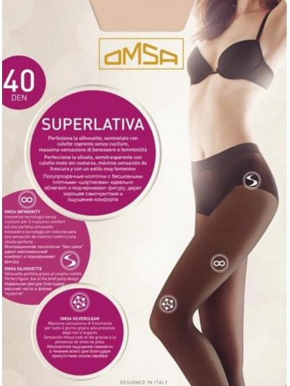 Omsa Superlativa 40 Den бесшовные колготки средней плотности