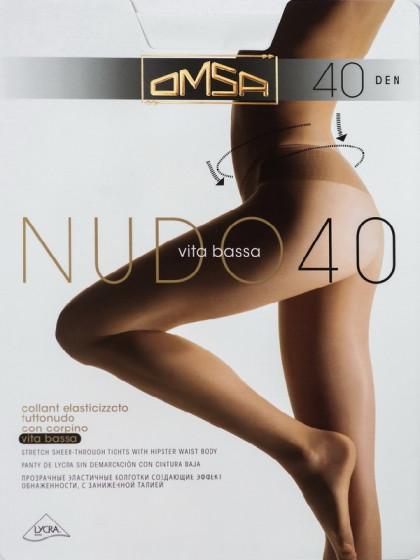 Omsa Nudo 40 Den Vita Bassa колготки на низкой талии