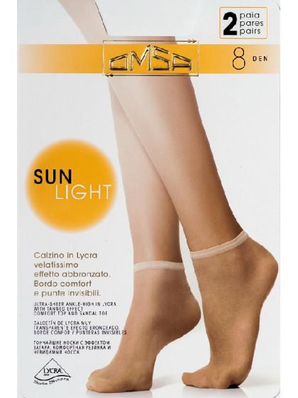 Omsa Sun Light 8 Den Calzino тончайшие летние носки