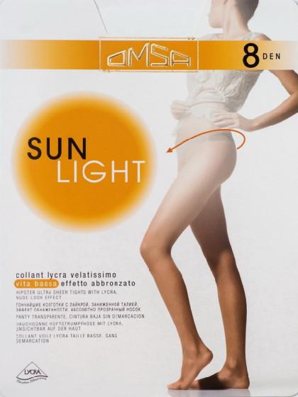 Omsa Sun Light 8 Den Vita Bassa летние колготки на низкой талии