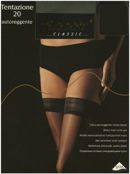 Filodoro Tentazione 20 Den Autoreggente классические женские тонкие чулки