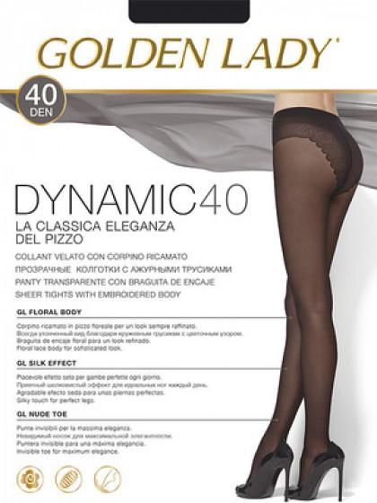 Golden Lady Dynamic 40 Den тонкие колготки с ажурными трусиками